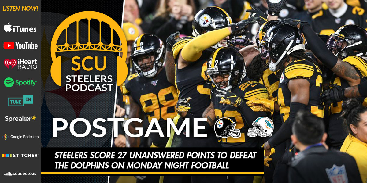 Steelers score 27 unanswered points to defeat the Dolphins on Monday Night Football