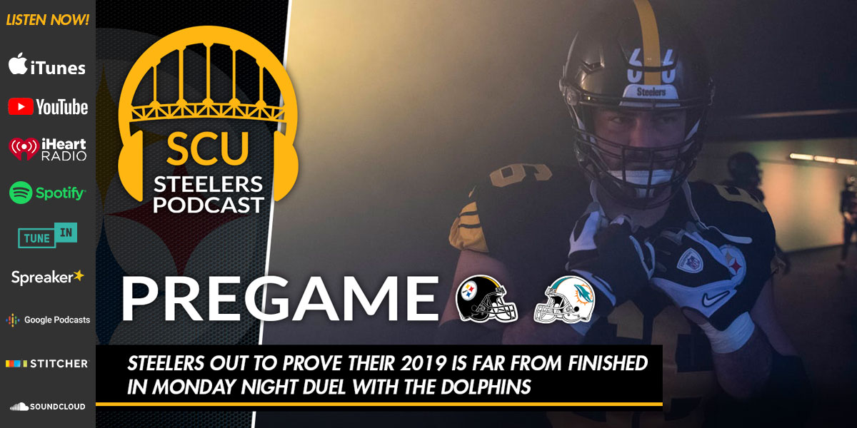 Steelers out to prove their 2019 is far from finished in monday night duel with the Dolphins