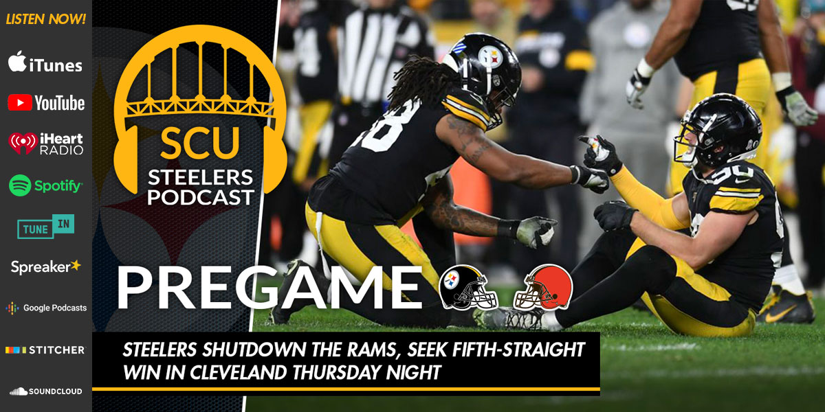 Steelers shutdown the Rams, seek fifth-straight win in Cleveland Thursday night