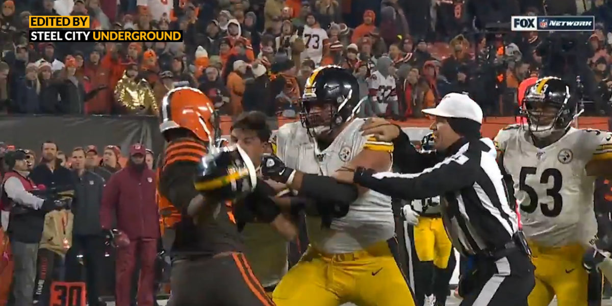 Myles Garrett attacks Mason Rudolph