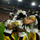 Pittsburgh Steelers celebrating a touchdown