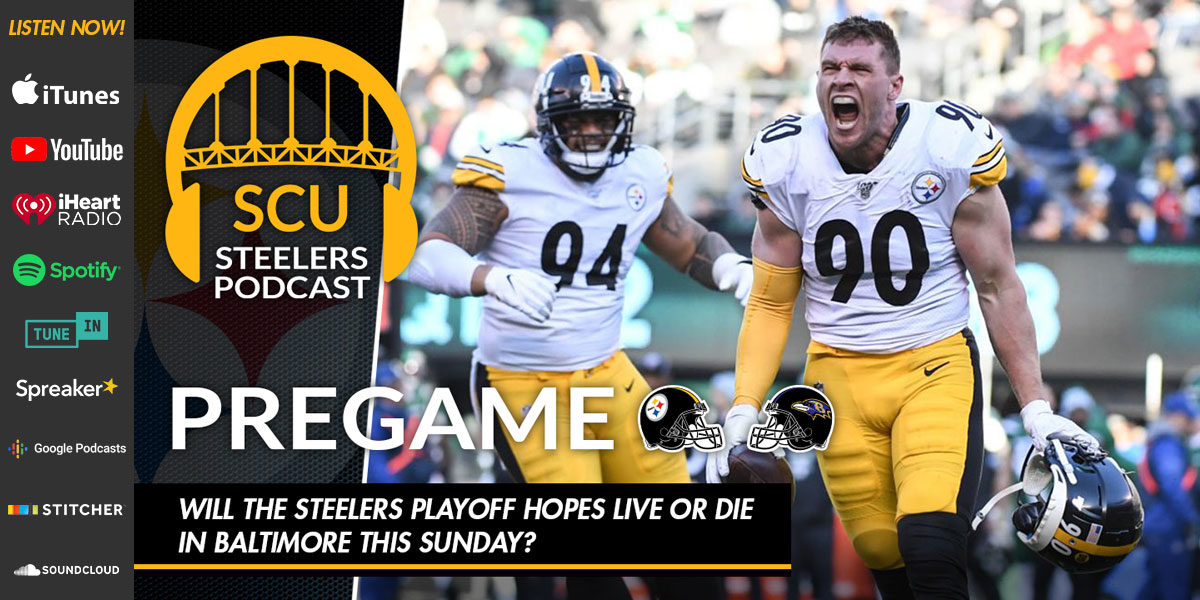 Will the Steelers playoff hopes live or die in Baltimore this Sunday?