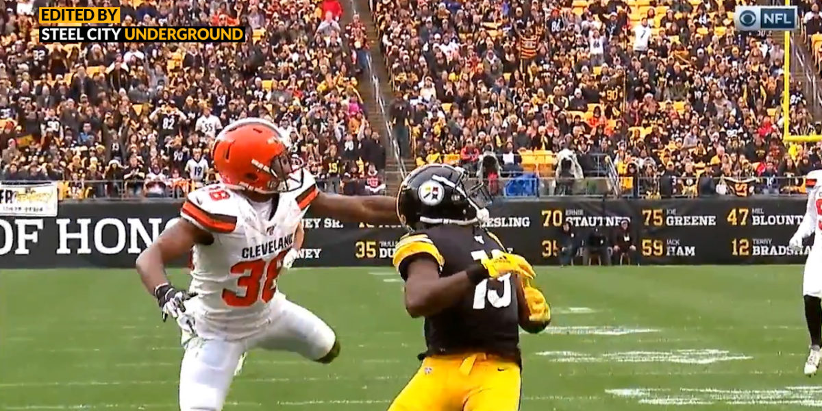 Watch: James Washington beats pass interference during diving touchdown catch