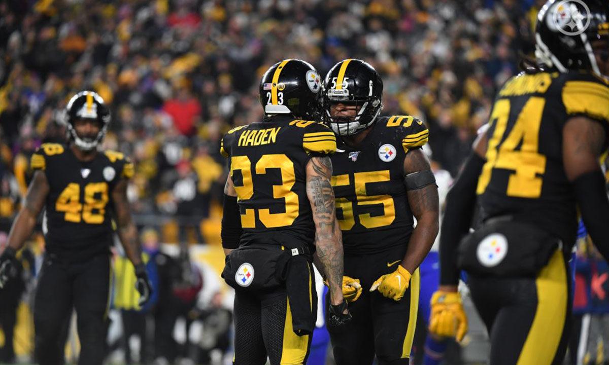 Pittsburgh Steelers LB Devin Bush and CB Joe Haden