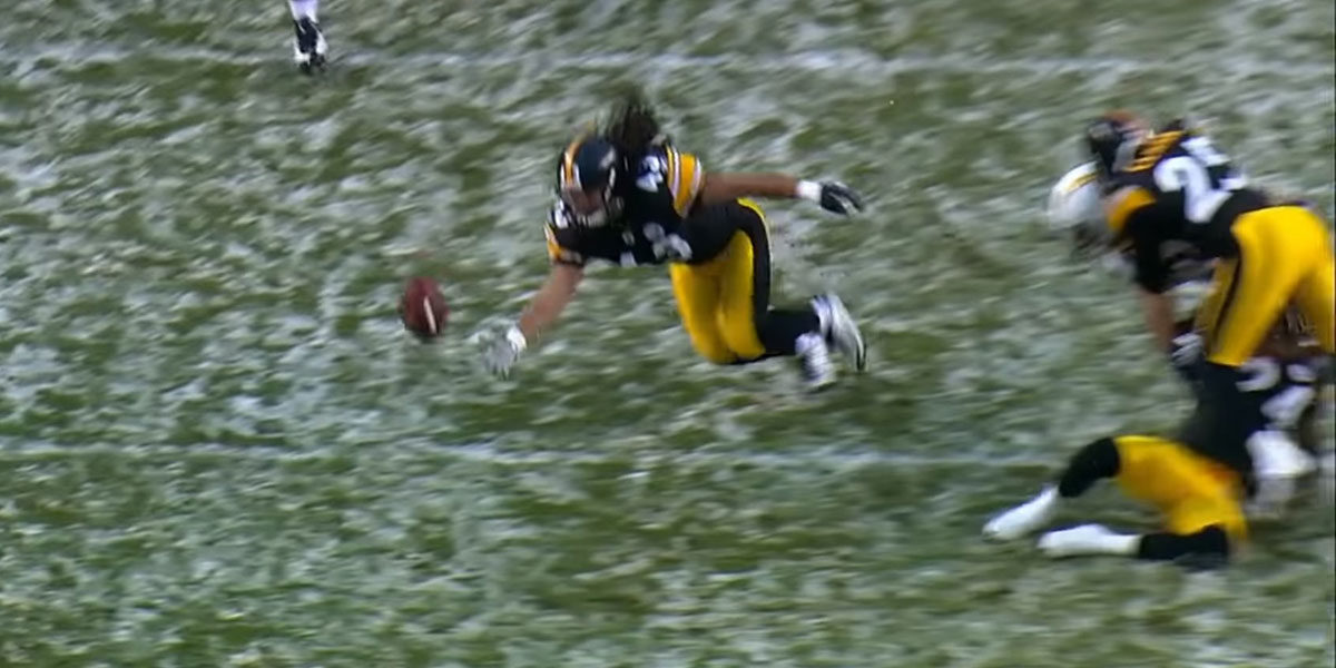 One of the incredible plays that made Troy Polamalu a first ballot Hall of Famer