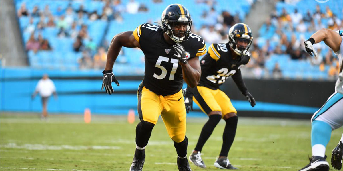 Pittsburgh Steelers outside linebacker Tuzar Skipper