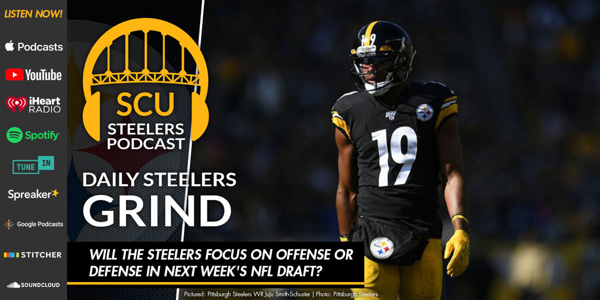 Will the Steelers focus on offense or defense in next week's NFL Draft?