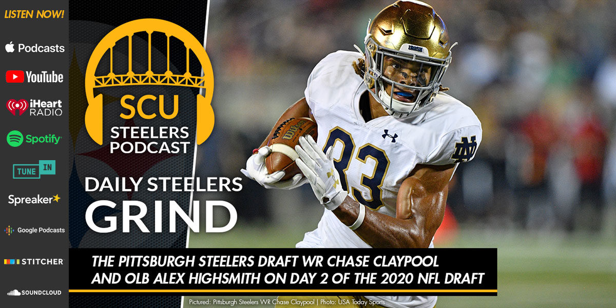 The Pittsburgh Steelers draft WR Chase Claypool and OLB Alex Highsmith on Day 2 of the 2020 NFL Draft