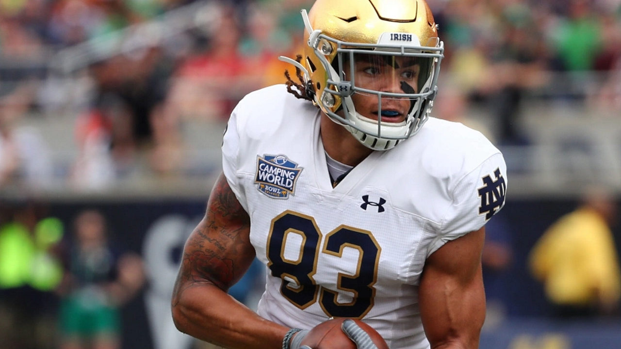 Notre Dame wide receiver Chase Claypool becomes the Pittsburgh Steelers' first 2020 NFL draft selection (USAToday Sports)