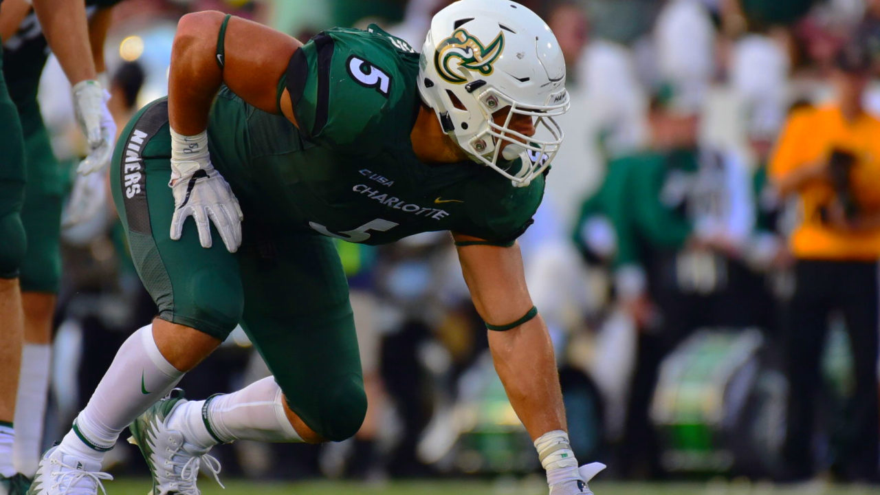 Former UNC Charlotte Niners defensive lineman Alex Highsmith was selected at No. 102 overall by the Pittsburgh Steelers in the 2020 NFL Draft (photo: Chris Crews/Niner Times)