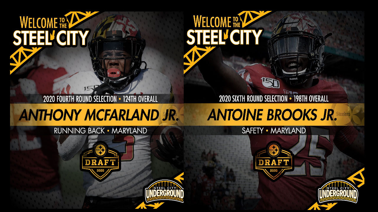The Pittsburgh Steelers selected Maryland products Anthony McFarland, Jr., and Antoine Brooks, Jr., in the 2020 NFL Draft