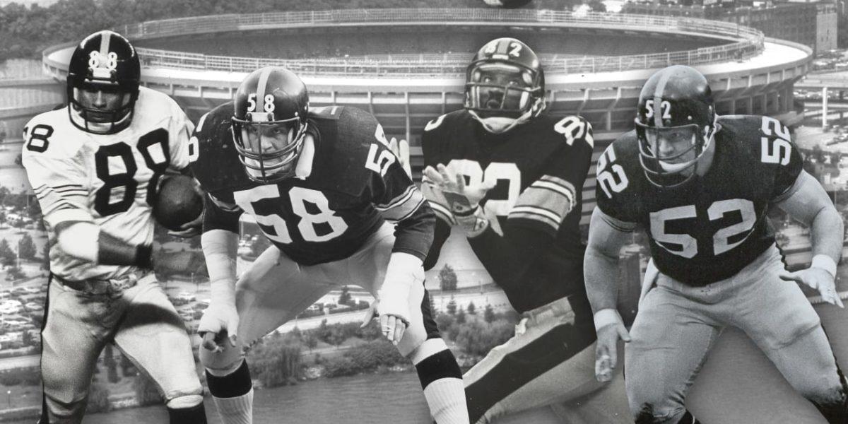 Lynn Swann, Jack Lambert, John Stallworth, and Mike Webster highlight the Pittsburgh Steelers' 1974 NFL Draft class (photo: Steelers.com)