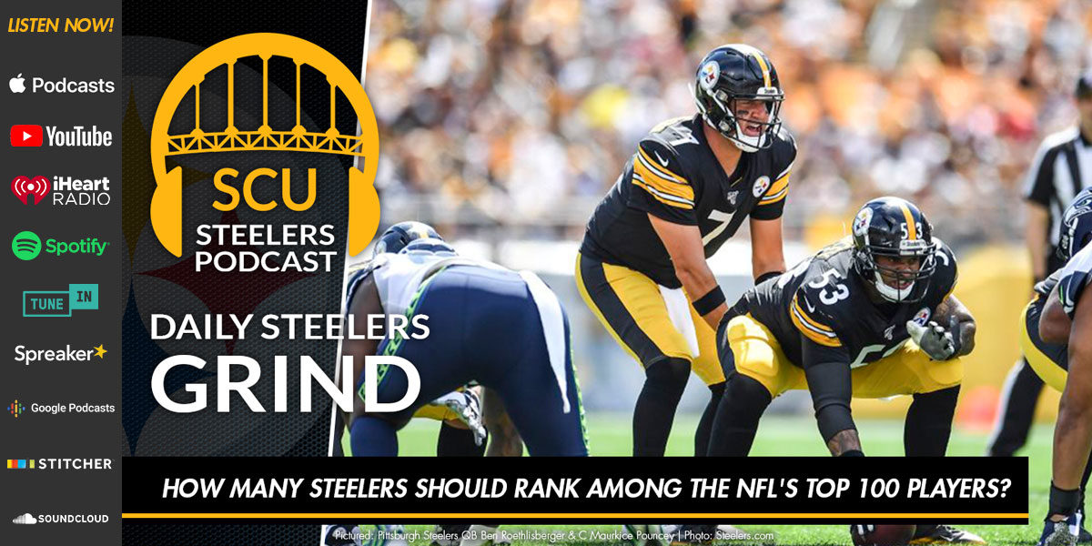 How many Steelers should rank among the NFL's Top 100 players?