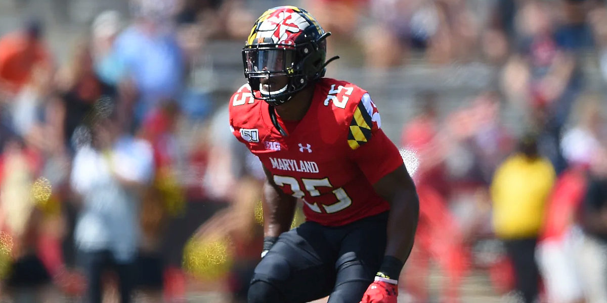 Maryland Terrapins defensive back Antoine Brooks, Jr. was selected by the Pittsburgh Steelers in the 2020 NFL Draft