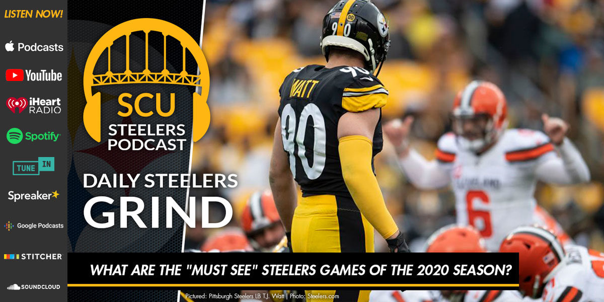 "What are the ""must see"" Steelers games of the 2020 season?"