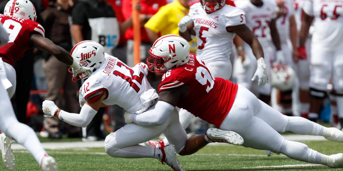 Interior defensive lineman Carlos Davis of the Nebraska Cornhuskers was drafted by the Pittsburgh Steelers of the NFL in 2020