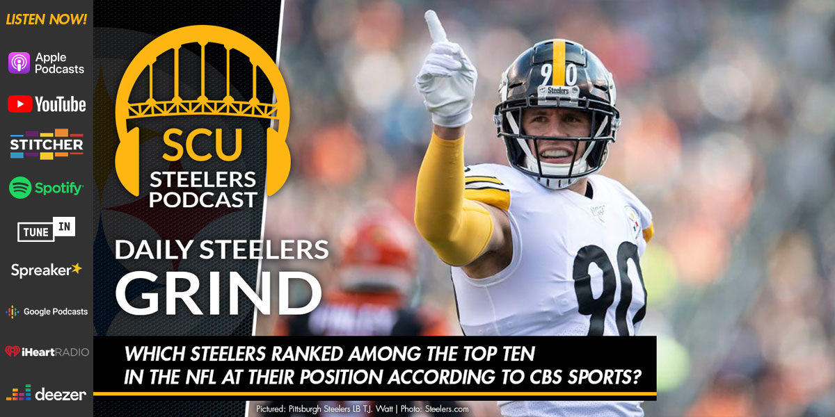 Which Steelers ranked among the top ten in the NFL at their position according to CBS Sports?