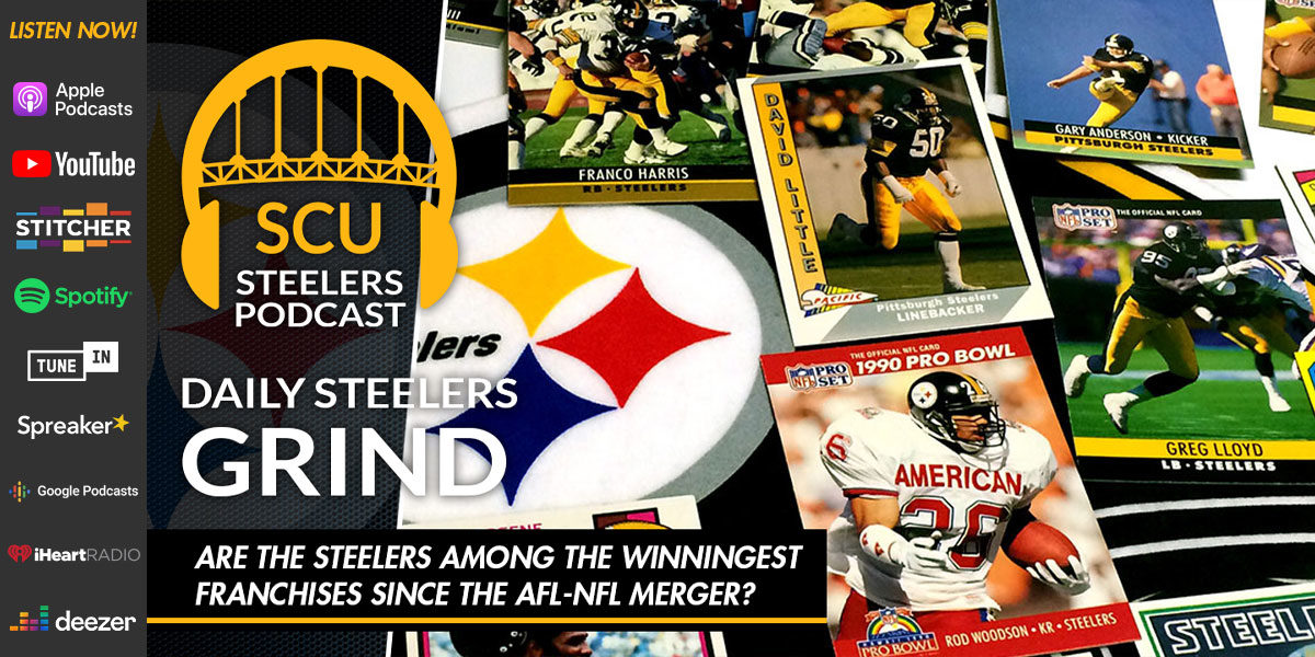 Are the Steelers among the winningest franchises since the AFL-NFL Merger?