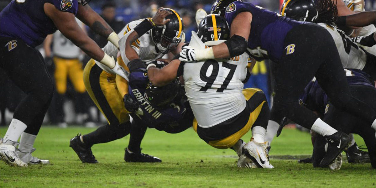 Steelers Defense against Baltimore Ravens
