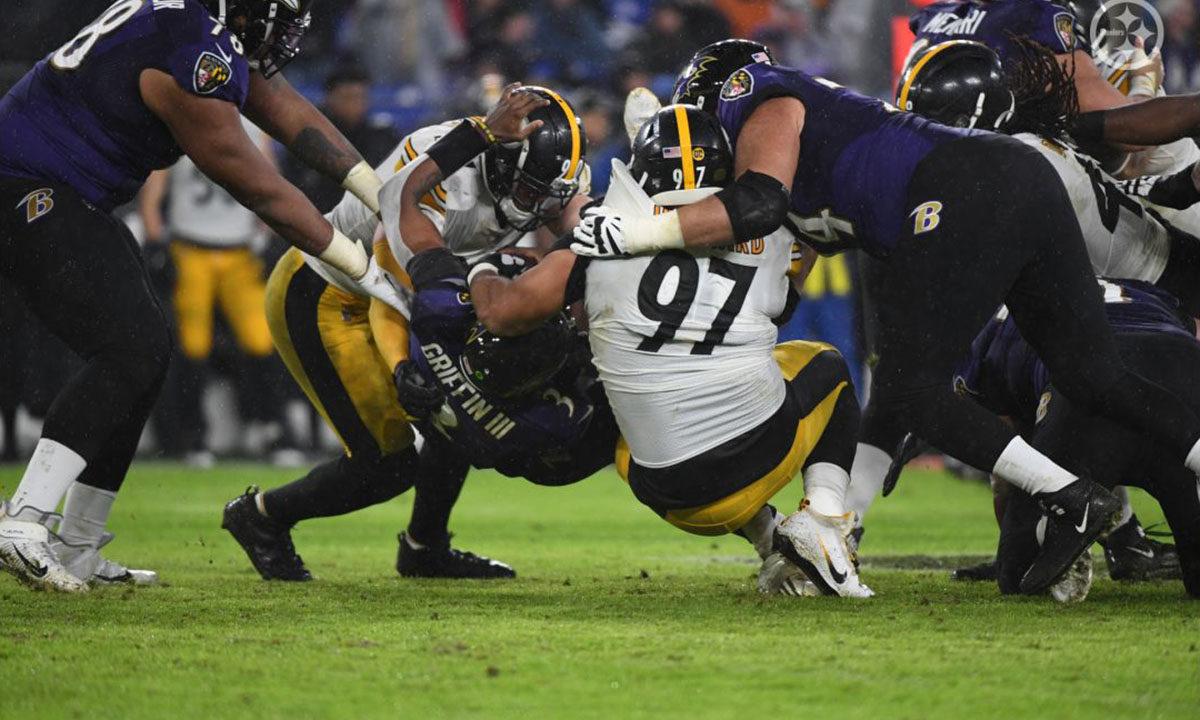 Steelers Defense against Baltimore Ravens
