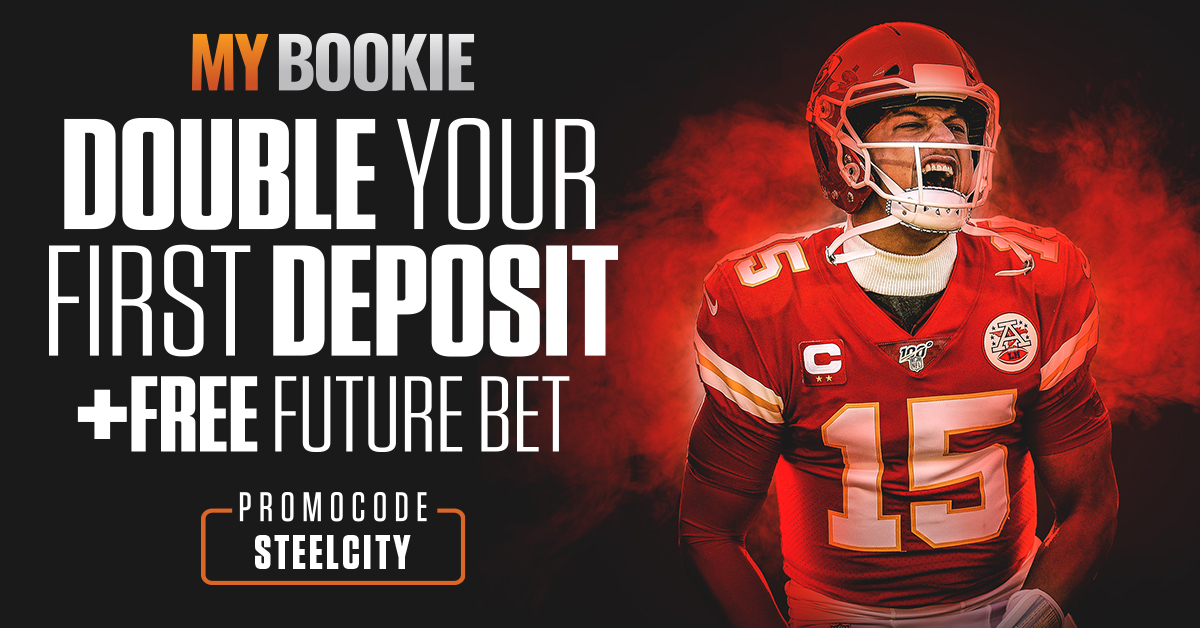 Double your first deposit plus a free future bet with MyBookie