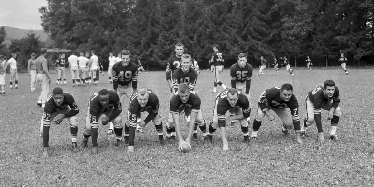 Pittsburgh Steelers at training camp in 1966 (archival footage, Steelers.com)