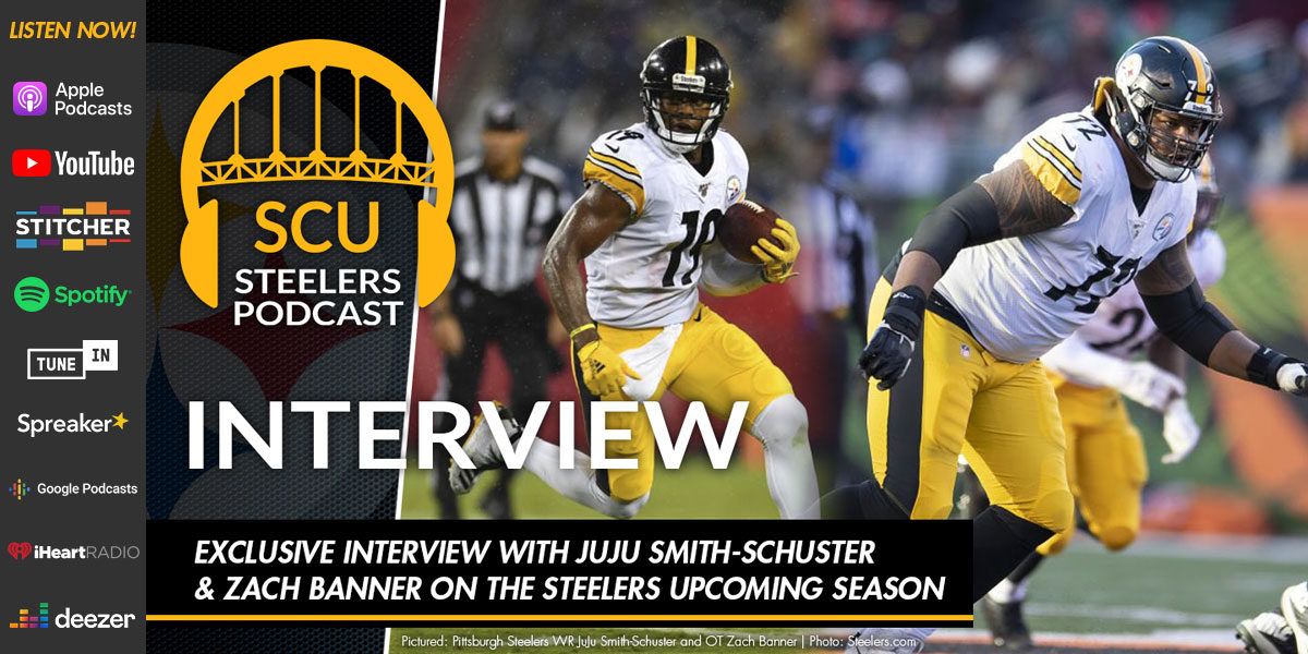Exclusive interview with JuJu Smith-Schuster & Zach Banner on the Steelers upcoming season
