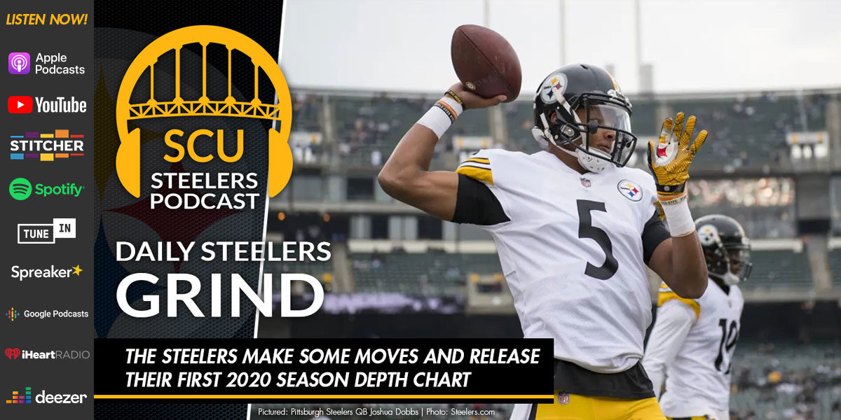The Steelers make some moves and release their first 2020 season depth chart