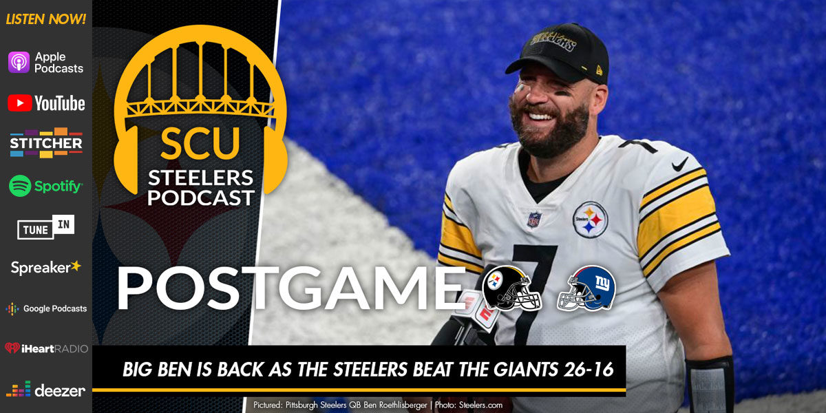 Big Ben is back as the Steelers beat the Giants 26-16