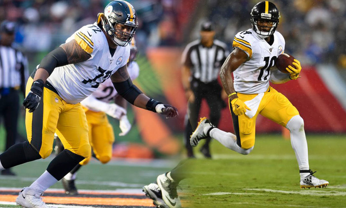 Pittsburgh Steelers WR JuJu Smith-Schuster and offensive tackle Zach Banner