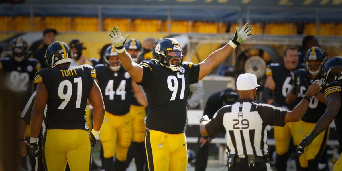 Pittsburgh Steelers defensive end Cameron Heyward vs the Denver Broncos