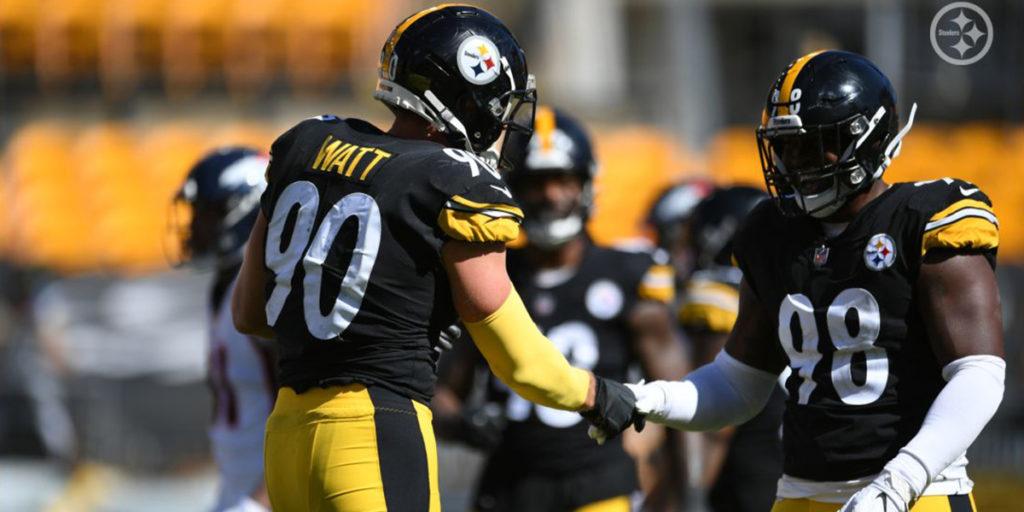 Pittsburgh Steelers LBs T.J. Watt and Vince Williams
