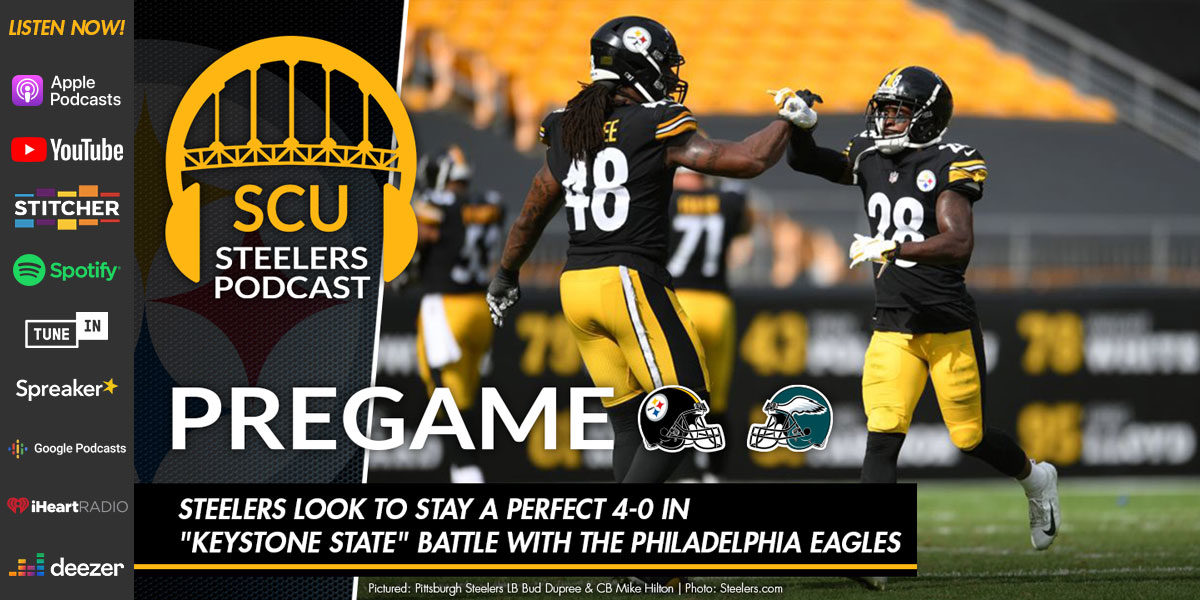 "Steelers look to stay a perfect 4-0 in ""Keystone State"" battle with the Philadelphia Eagles"