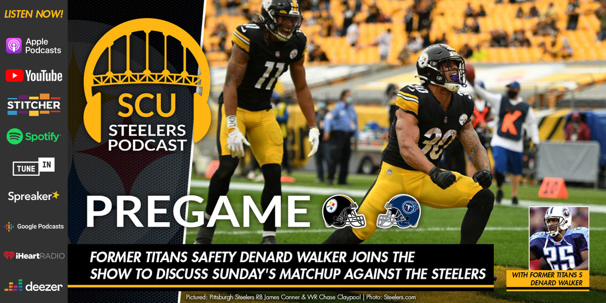 Former Titans safety Denard Walker joins the show to discuss Sunday's matchup against the Steelers
