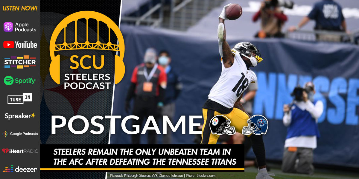 Steelers remain the only unbeaten team in the AFC after defeating the Tennessee Titans