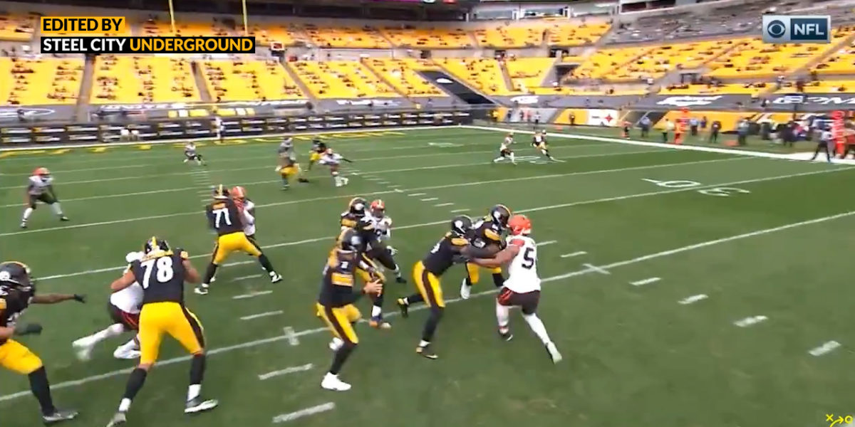 Big Ben pump fakes Browns secondary into Washington's wide-open TD
