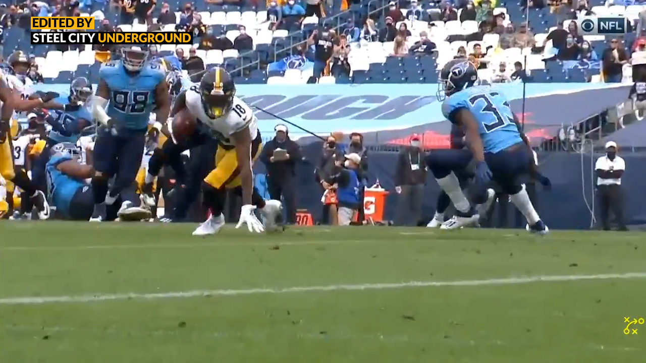 Watch: Diontae Johnson spins curl to grab second TD against Titans