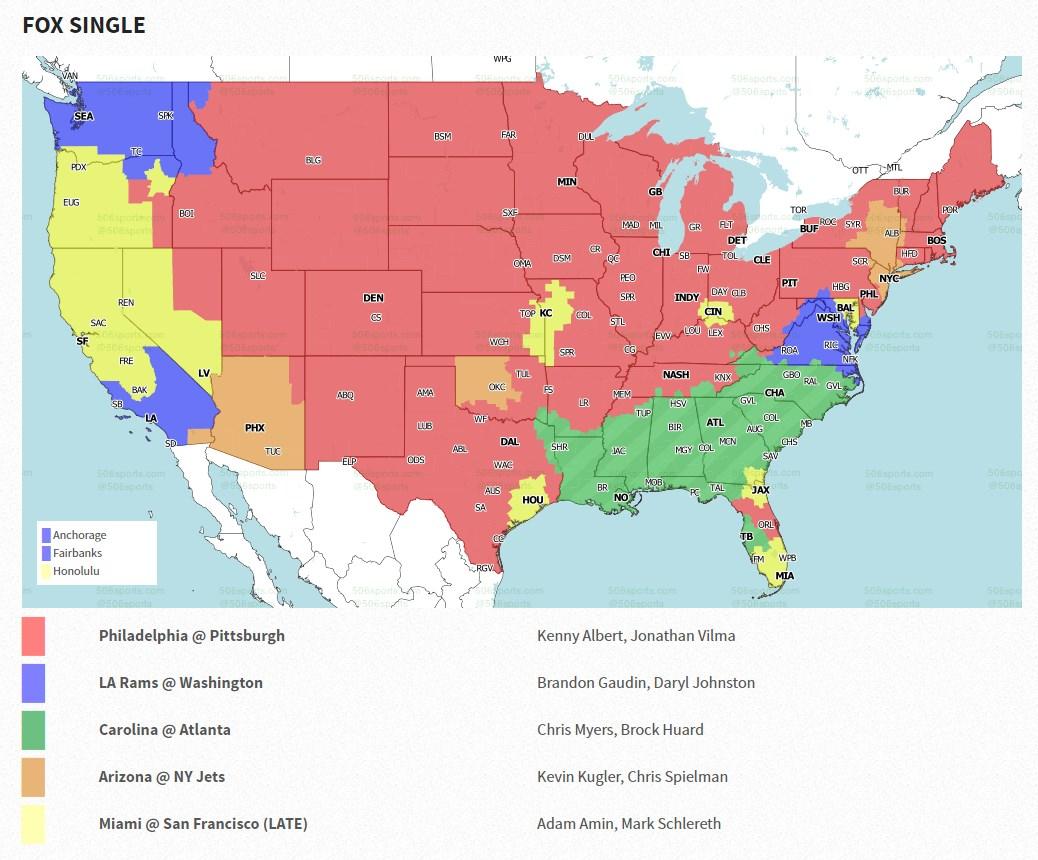 NFL TV Map 2020 Week5