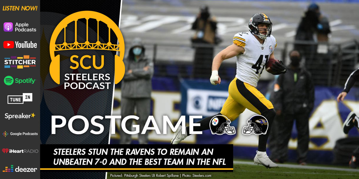 Steelers stun the Ravens to remain an unbeaten 7-0 and the best team in the NFL
