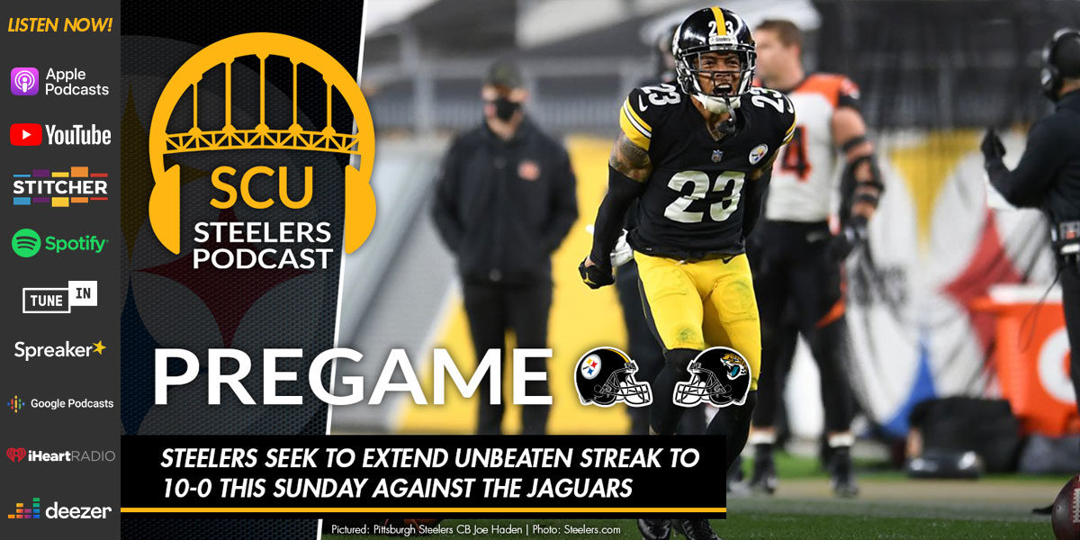 Steelers seek to extend unbeaten streak to 10-0 this Sunday against the Jaguars