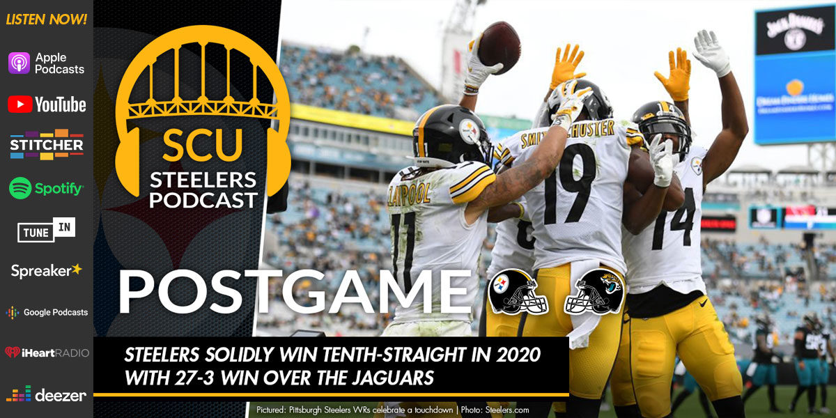 Steelers solidly win tenth-straight in 2020 with 27-3 win over the Jaguars