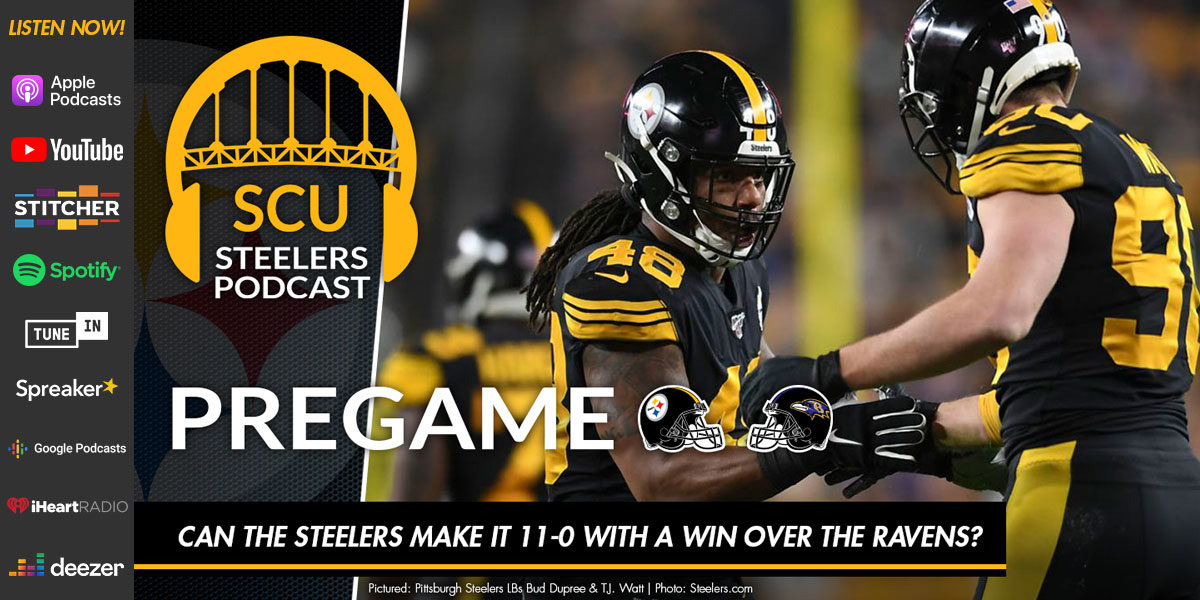Can the Steelers make it 11-0 with a win over the Ravens on Thanksgiving night?
