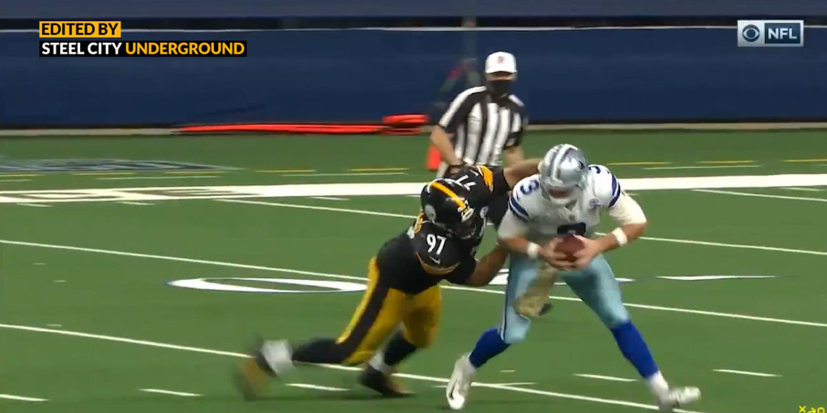 Watch: Cam Heyward unleashes his inner beast with clutch 4th down sack