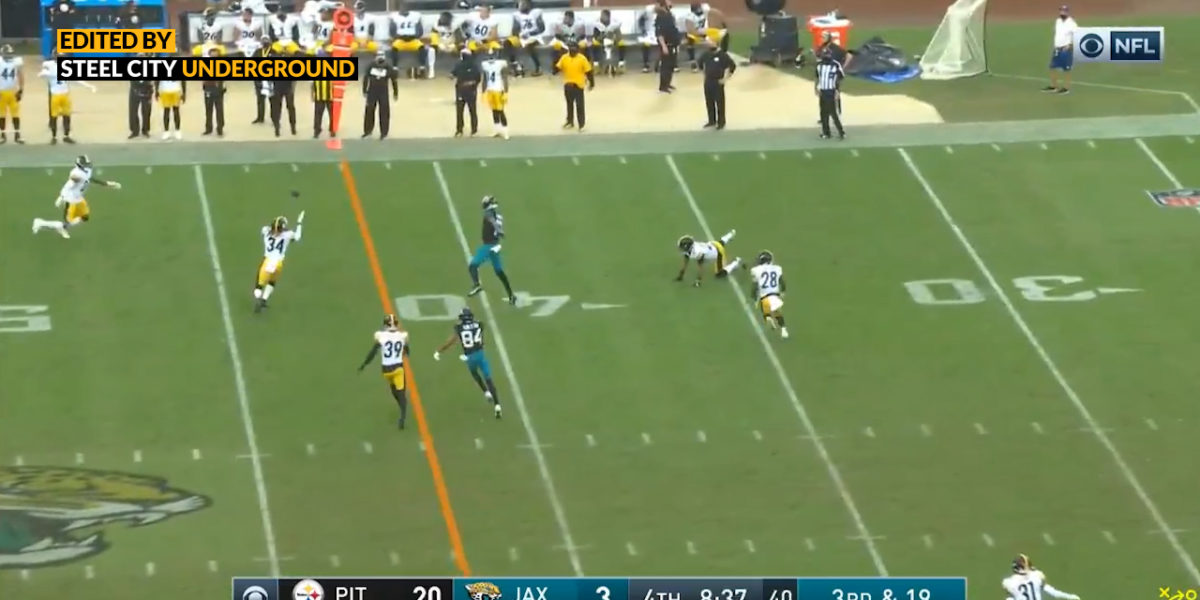 Watch: Terrell Edmunds gets his second pick of the game against the Jaguars