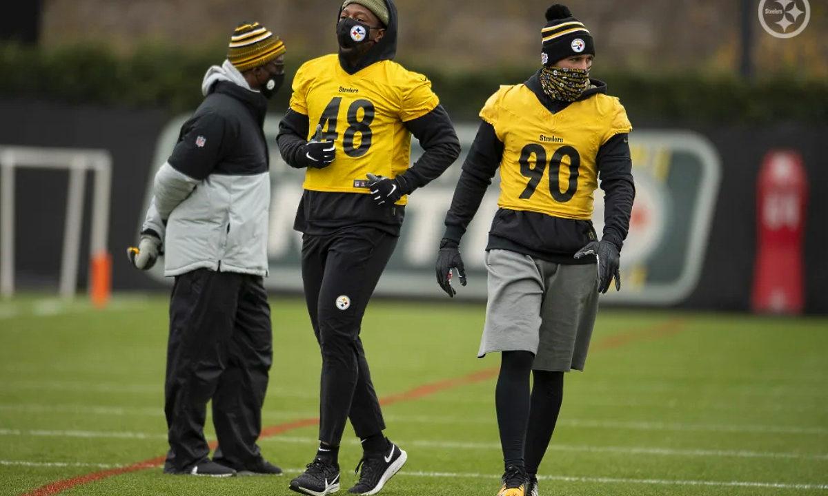 Bud Dupree and T.J. Watt of the Pittsburgh Steelers