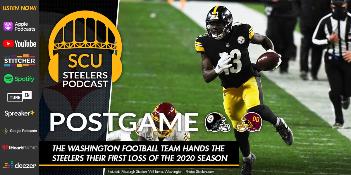 The Washington Football Team hands the Steelers their first loss of the 2020 season