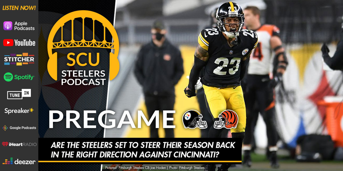Are the Steelers set to steer their season back in the right direction against Cincinnati?