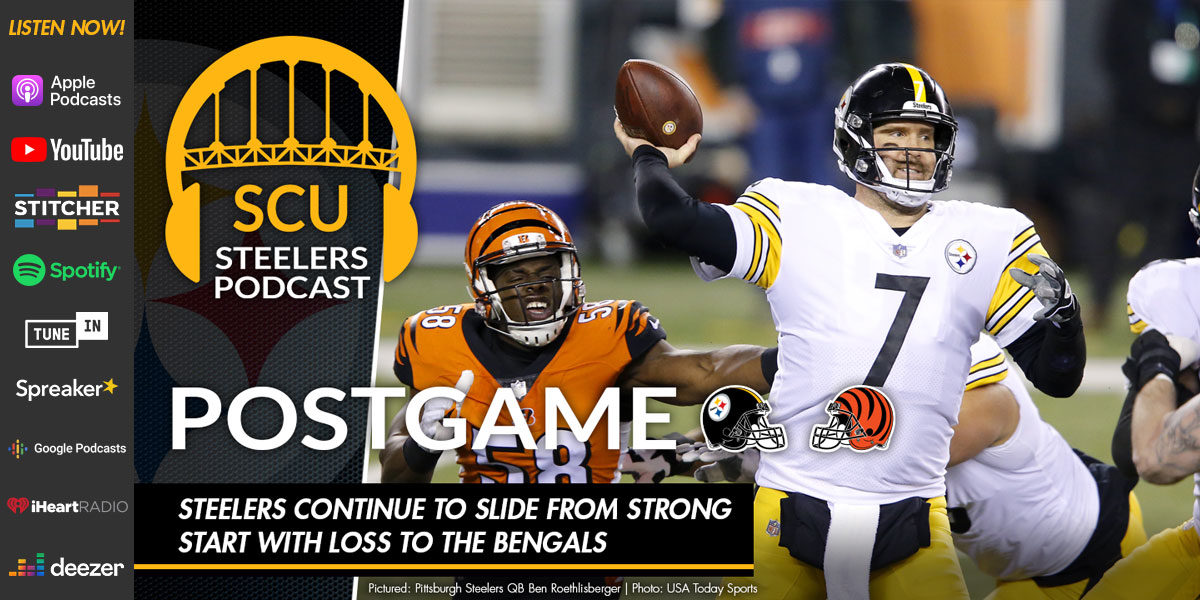 Steelers continue to slide from strong start with loss to the Bengals