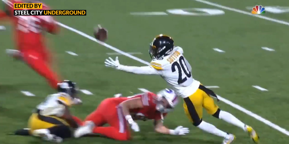 Watch: Mike Hilton jars ball loose for spectacular interception by Cam Sutton