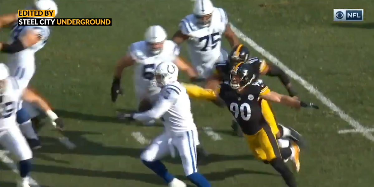 Watch: T.J. Watt's strip sack sets up Steelers first points against Indy